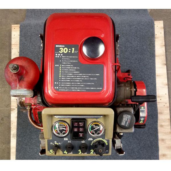 ปั๊มสูบน้ำดับเพลิงมือสอง43แรงม้า สตาร์ทมือพร้อมแบต(1) รุ่น P408R ยี่ห้อ RABBIT