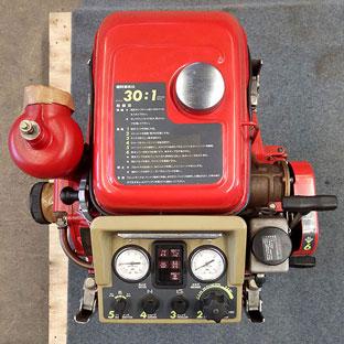 ปั๊มสูบน้ำดับเพลิงมือสอง43แรงม้า สตาร์ทมือพร้อมแบต(3) รุ่น P408R ยี่ห้อ RABBIT