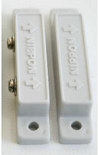 เซ็นเซอร์สวิทซ์แม่เหล็กสำหรับแจ้งเตือนประตูหนีไฟเปิดค้างไว้ แบบหน้า Contact ปกติเปิด