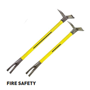 Nupla 33803 Yellow Nuplaglas Handle Steel Claw and Pry Halligan Tool 24Inch. Length