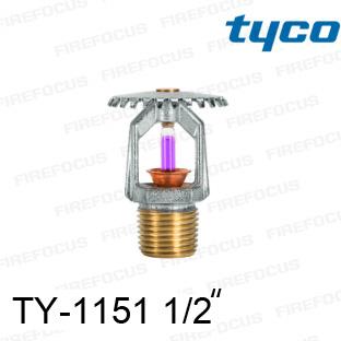 สปริงเกอร์แบบอัพไรท์สีม่วง TY-B 360F รุ่น TY-1151 (K2.8) 1/2 นิ้ว ยี่ห้อ TYCO