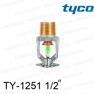 สปริงเกอร์แบบเพนเด้นท์สีเขียว TY-B 200F รุ่น TY-1251 (K2.8) 1/2 นิ้ว ยี่ห้อ TYCO