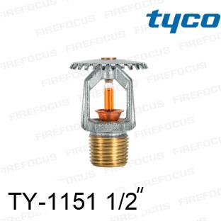 สปริงเกอร์แบบอัพไรท์สีส้ม TY-B 155F รุ่น TY-1151 (K2.8) 1/2 นิ้ว ยี่ห้อ TYCO