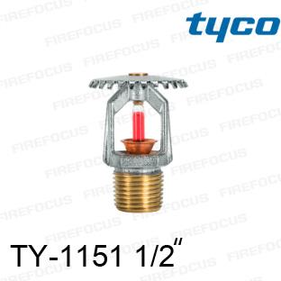 สปริงเกอร์แบบอัพไรท์สีแดง TY-B 155F รุ่น TY-1151 (K2.8) 1/2 นิ้ว ยี่ห้อ TYCO
