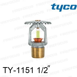 สปริงเกอร์แบบอัพไรท์สีเหลือง TY-B 175F รุ่น TY-1151 (K2.8) 1/2 นิ้ว ยี่ห้อ TYCO