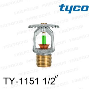 สปริงเกอร์แบบอัพไรท์สีเขียว TY-B 200F รุ่น TY-1151 (K2.8) 1/2 นิ้ว ยี่ห้อ TYCO