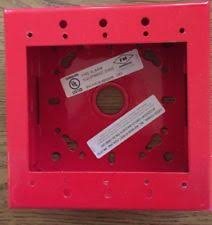 Backbox Switch 4x4 RED ยี่ห้อ Kidde Fire Systems