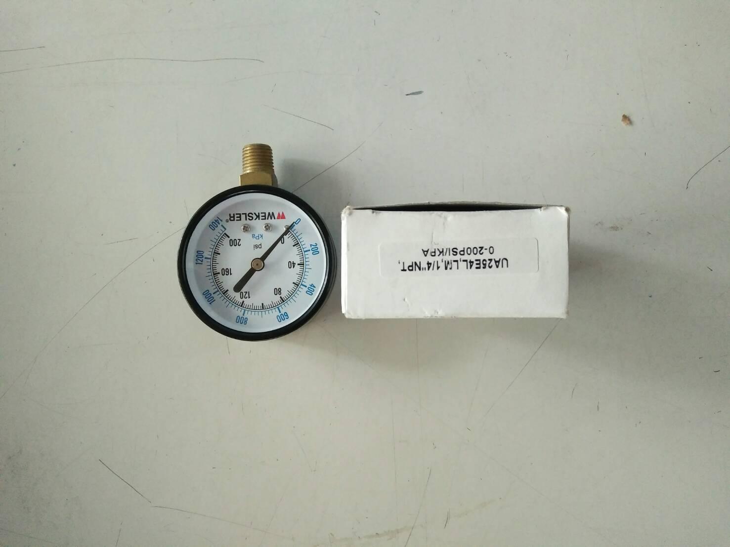 เกจวัดความดัน 1/4NPT 0-200 PSI ยี่ห้อ WEKSLER