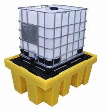 ถาดสำหรับรองรับสารเคมีรั่วไหลจากถัง IBC ขนาด 1000 ลิตร รุุ่น BB1 ย่ีีห้อ Romold