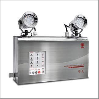 โคมไฟฉุกเฉินกันน้ำ IP65 ตัวถังสแตนเลส LED 2x9W.,สำรองไฟ 3 ชม.รุ่น NAU209ST3 ยี่ห้อ Sunny