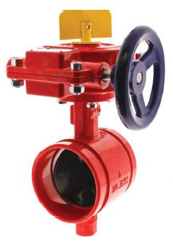 NIBCO Butterfly valve Ductile iron body Groove type Gear operator UL/FM for 300 รุ่น GD4765-8N