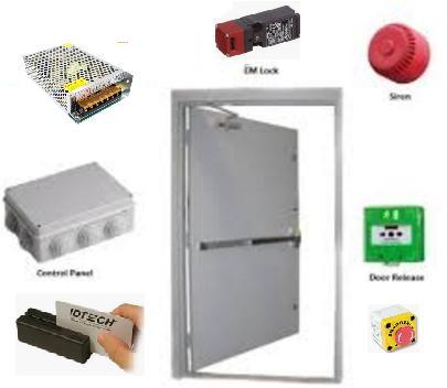 บริการรับติดตั้งสัญญาณแสงเสียงแจ้งเตือนเมื่อมีการเปิดประตูหนีไฟแบบบานเดี่ยว