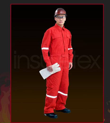 ชุดหมีดับเพลิงผ้า Flamearmor 4.5 oz Coverall  size M - XXL ยี่ห้อ IST