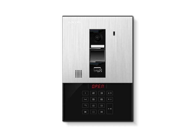 KOCOM KLP-C410R กริ่งพร้อมเลนส์และไฟ LED  เข้ำด้วยรหัสหรือกำร์ดเชื่อมต่อได้ 450 ห้อง ปลดล๊อคประตูได้