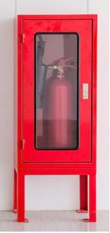 ตู้เก็บถังดับเพลิงชนิด CO2 ถังเดี่ยว ขนาด 43x85x25 พร้อมขาตั้งสูง 35 cm.