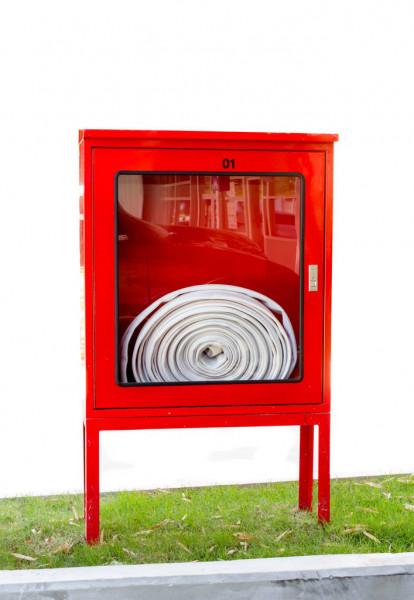 ตู้สนามนอกอาคารเก็บสายส่งน้ำดับเพลิง 80x100x30 ขาสูง 50 cm.มีหลังคา