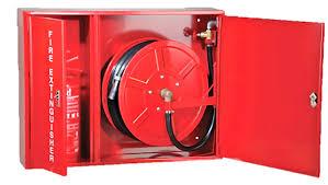 ตู้เก็บสายส่งน้ำดับเพลิง Hose Reel พร้อมถังดับเพลิง 80x(90+30)x35 cm.แบบแขวนลอยหรือฝังจม