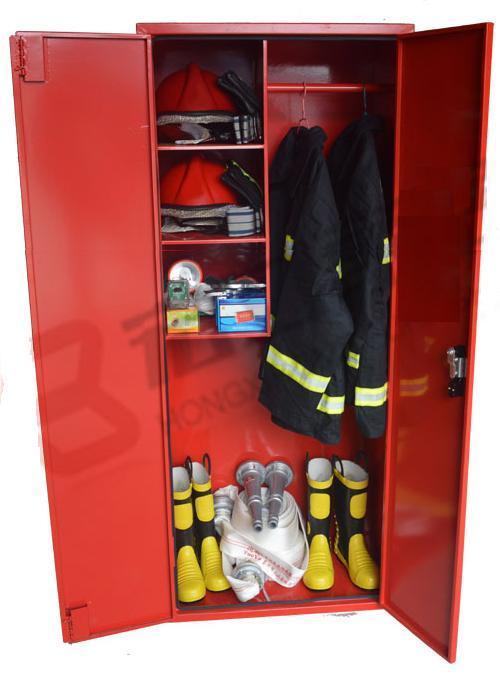 ตู้เก็บพนักงานดับเพลิงและอุปกรณ์ขนาดเล็ก กว้าง 80xสูง 150xหนา 50 cm.ขาสูง 10 cm.