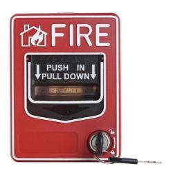 FIRE-LITE Addressable Manual Pull Station, Dual-Action, , Key Lock model.BG-12LX