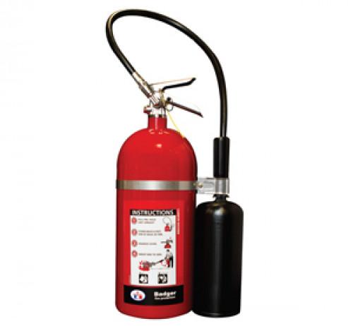 ถังดับเพลิงคาร์บอนไดออกไซด์ (CO2) BADGER รุ่น B15V-1 ขนาด 15 ปอนด์  สามารถใช้ดับไฟชนิด  B,C