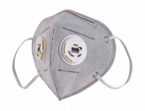 หน้ากากคาร์บอน PM 2.5 กรองกลิ่นและฝุ่นควันเข้มข้น  วาล์วคู่ Model 8242 ยี่ห้อ YAMADA กล่อง12ชิ้น