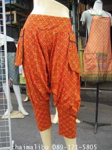 กางเกงแฟชั่น ทรงขี่ม้า ผ้าถุง
