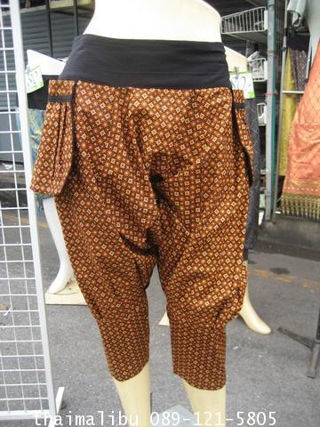 กางเกงแฟชั่น ทรงขี่ม้า ผ้าถุง 1