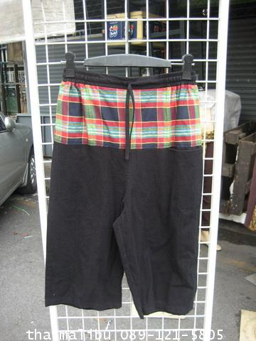 กางเกงหูรูด ผ้าพื้น ขาสามส่วน