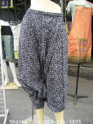 กางเกงแฟชั่น ทรงขี่ม้า ผ้าลายไทย 5