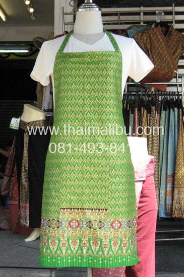 ผ้ากันเปื้อน สำหรับนวดน้ำมัน ผ้าลายไทย