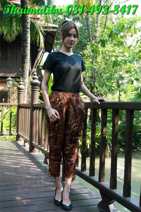 กางเกงผ้าไทย ทรงรูดข้าง 2