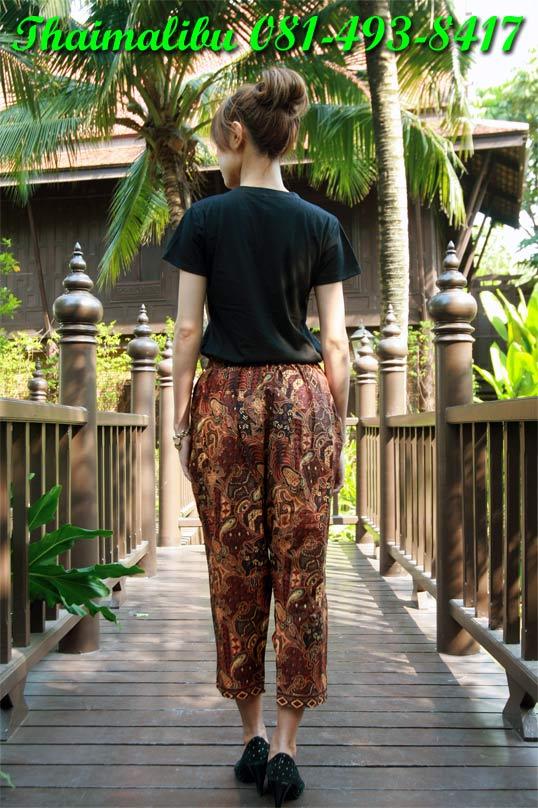 กางเกงผ้าไทย ทรงรูดข้าง 1
