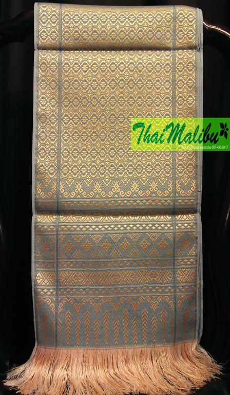 ผ้าคาดเตียง ลายไทย กว้าง 10นิ้ว ยาว 2เมตร
