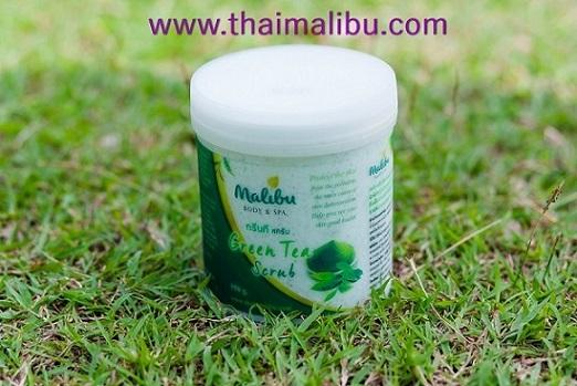 สครับ ครีมขัดผิว Malibu Body  Spa กรีนที สครับ (Green Tea Scrub)