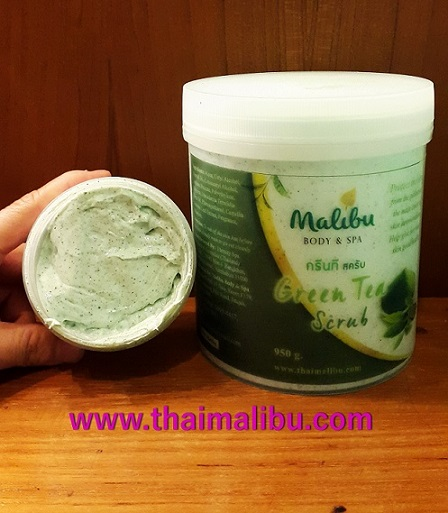 สครับ ครีมขัดผิว Malibu Body  Spa กรีนที สครับ (Green Tea Scrub) 1
