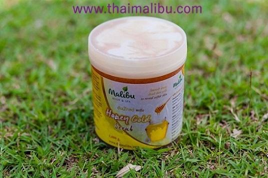 สครับ ครีมขัดผิว Malibu Body  Spa ฮันนี่โกล์ด บอดี้สครับ (Honey Gold Body Scrub)