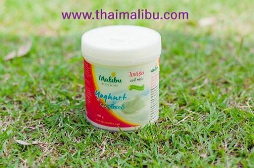 สครับ ครีมขัดผิว Malibu Body  Spa โยเกิร์ต บอดี้สครับ (Yoghurt Body Scrub)