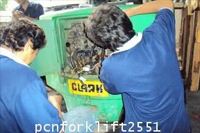งานบริการแปลงระบบรถโฟล์คลิฟท์ไฟฟ้า1