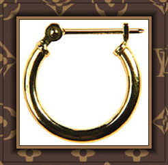 Studex System 75™ 1/2 Yellow Gold Hinged Hoop Earrings