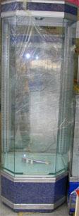 ตู้โชว์จิวเวลรี่ 5 เหลี่ยมแบบผืนผ้า สูง 1.80 เมตร