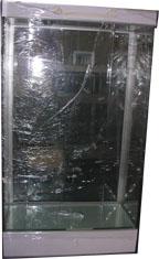 ตู้กระจก โชว์สูง 1.80 เมตร สีขาว