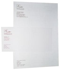 หัวจดหมาย, กระดาษจดหมาย
