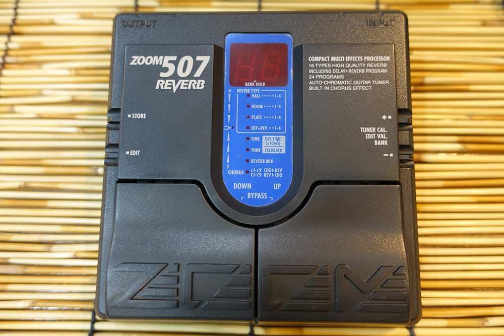 ZOOM 507 มัลติเอฟเฟค รีเวิร์บโดยเฉพาะ มี17แบบให้เลือกใช้ ผสมใช้งานได้24เสียง (MADE IN JAPAN)