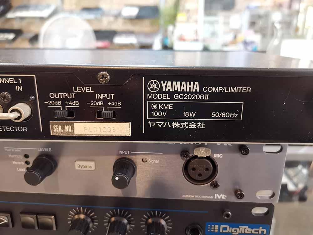 YAMAHA GC2020BII CompressorLimiter (MADE IN JAPAN) คอมเพรสเซ่อร์  ลิมิเตอร์ ของดีที่ยังนิยมหาใช้ 4