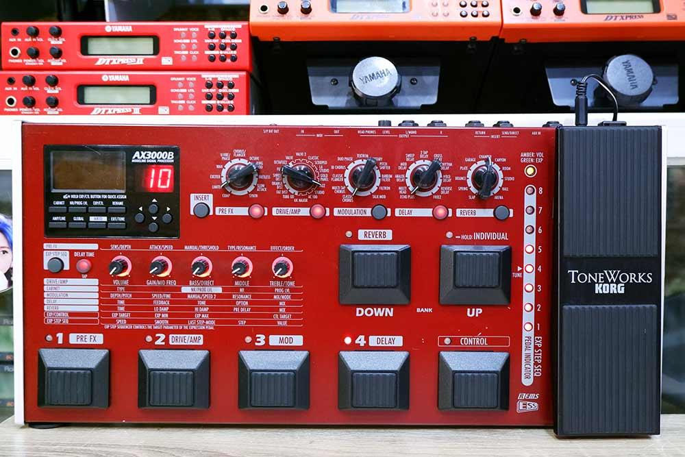 KORG AX3000B มัลติเอฟเฟคเบส 72เอฟเฟค เซฟได้96โปรแกรม เสียงหนาอ้วนดีมาก
