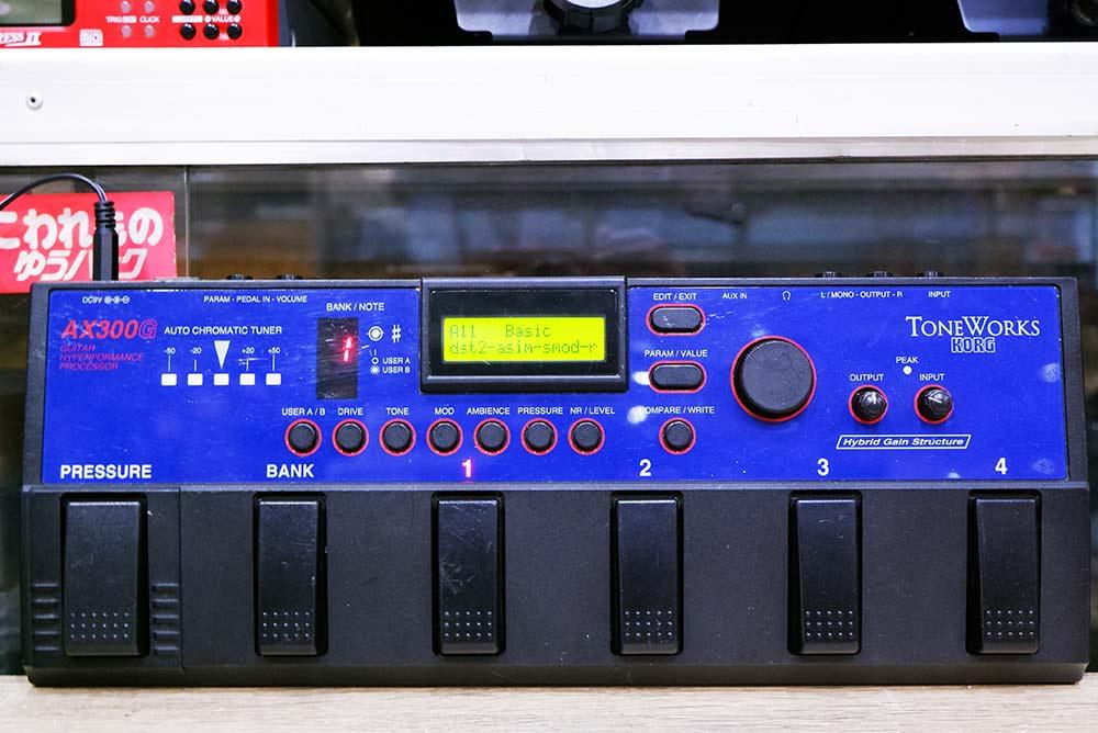 KORG AX300G เก่าแต่้สียงดี ยุคญี่ปุ่นทำ เอฟเฟค 28เสียง 132โปรแกรม user 32 โรงงาน 100 เสียงแตกอ้วน ดุ
