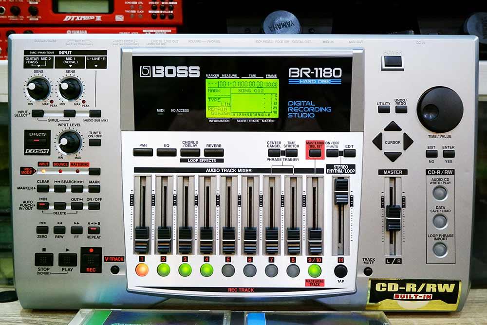 BOSS BR-1180 Digital Recording Studio 10แทร็ค HDD20GB และ CD-RWในตัว ไรท์แผ่นเล่นแผ่นได้ ยังใหม่เอี่ 4