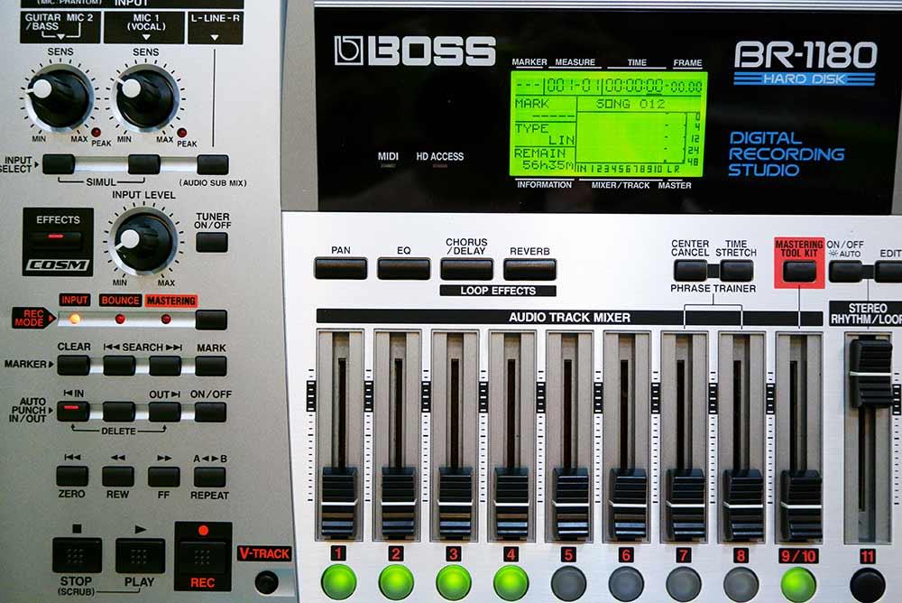 BOSS BR-1180 Digital Recording Studio 10แทร็ค HDD20GB และ CD-RWในตัว ไรท์แผ่นเล่นแผ่นได้ ยังใหม่เอี่ 5