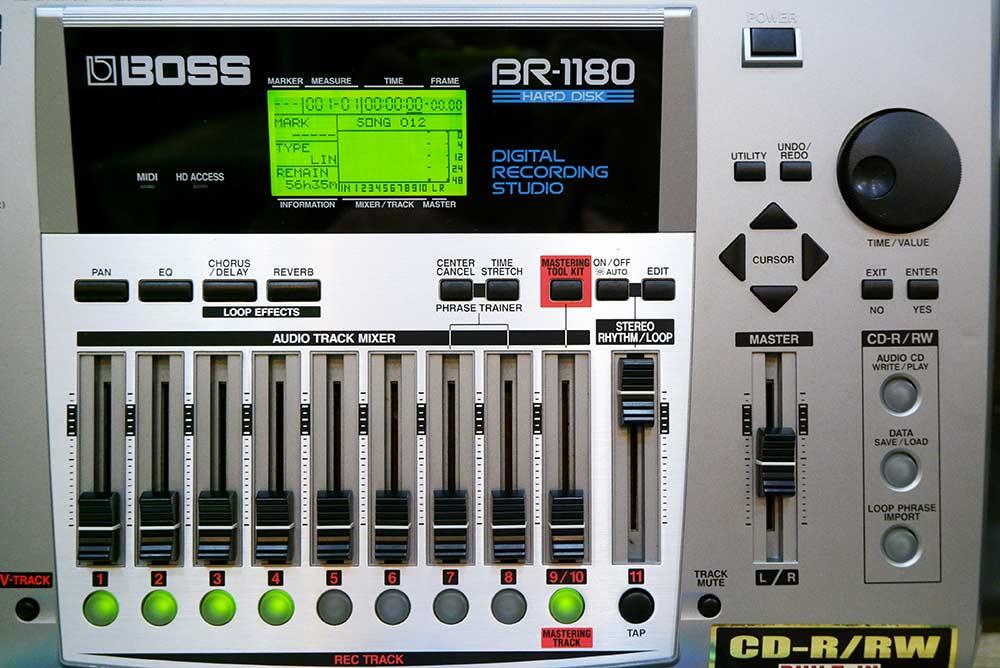 BOSS BR-1180 Digital Recording Studio 10แทร็ค HDD20GB และ CD-RWในตัว ไรท์แผ่นเล่นแผ่นได้ ยังใหม่เอี่ 6