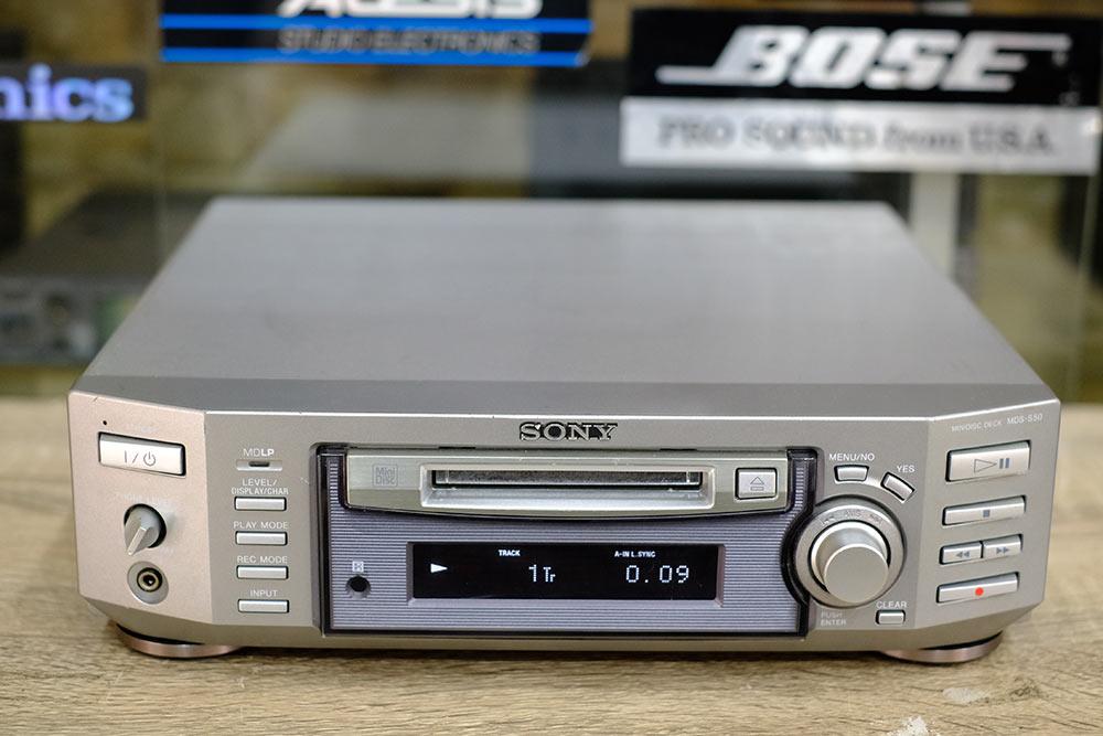 SONY เอ็มดี MDS-S50 เครื่องเอ็มดี จากญี่ปุ่น ใช้งานปรกติ พร้อมรีโมทและแผ่น80นาที